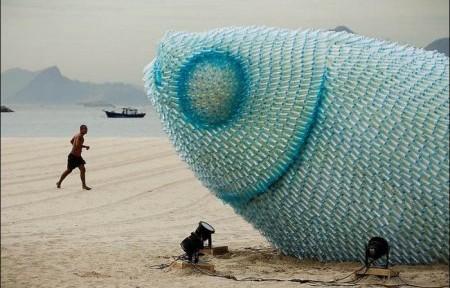 Ух ты, пластиковая рыба!