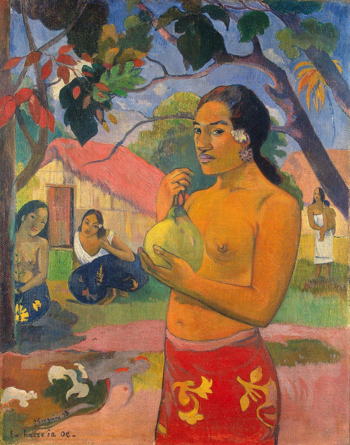 Поль Гоген Женщина, держащая плод, 1893.