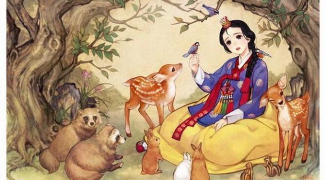 Персонажи Диснея на корейский лад