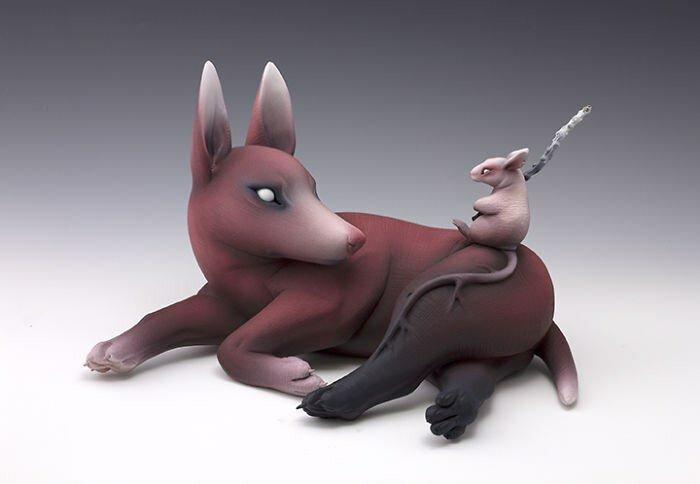 Странные создания из керамики от Эрики Санада. Жуткие и прекрасные