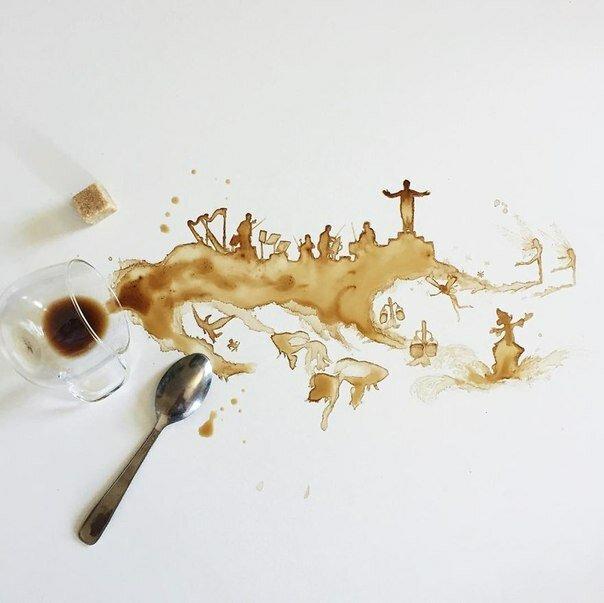 Рисование за чашечкой кофе: необычные миниатюры Джулии Бернаделли