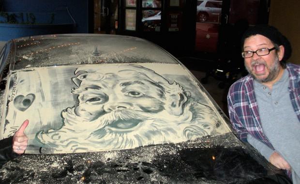 Танки грязи не боятся! Рисунки на немытых машинах от Скотта Уэйда