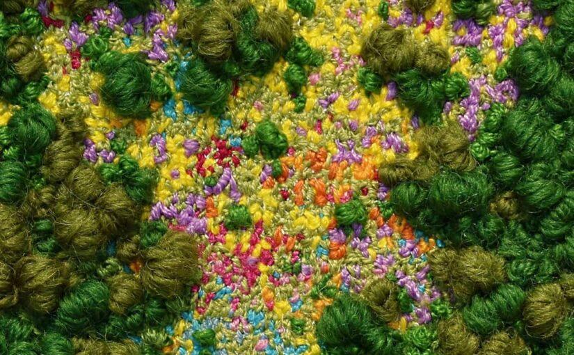 Вышивки Виктории Роуз: трехмерная любовь к природе