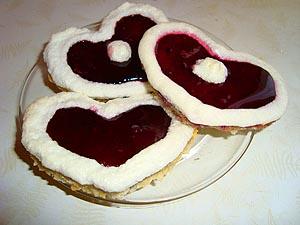 Печеньки – валентинки :) (они же пироженки)