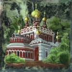 Церкви на каменных плакетах