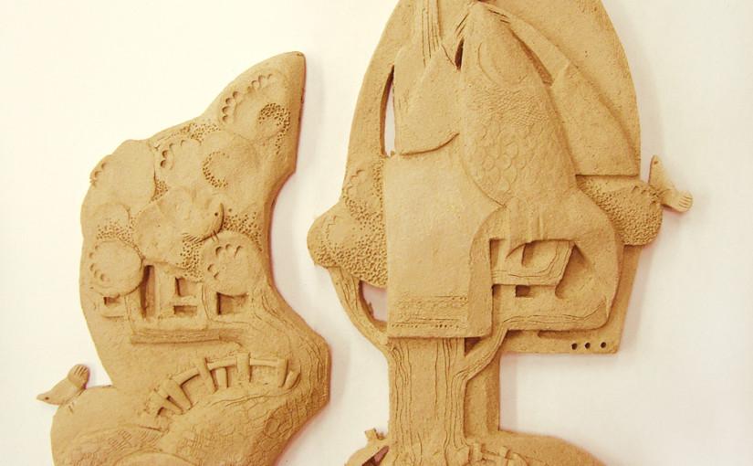 Диплом: поиски формы. Эскиз № 1: декоративное панно.