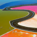 Все цвета радуги соляных прудов Сан-Франциско