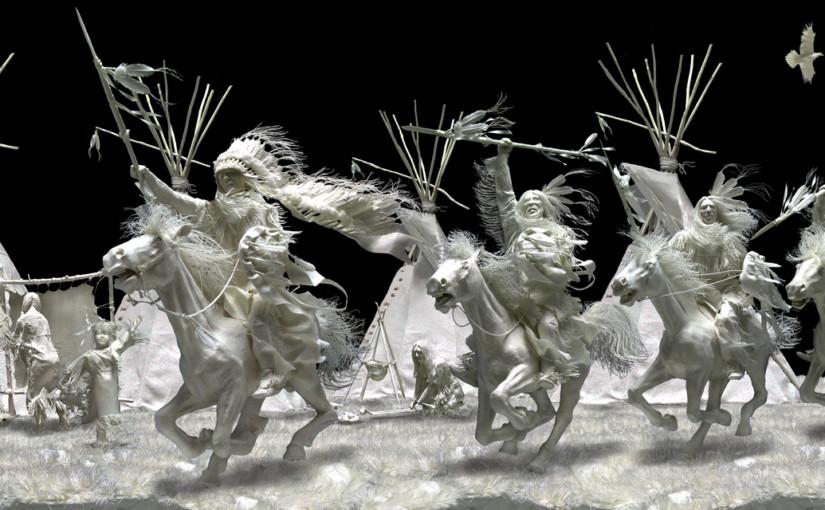 Скульптуры из бумаги Аллена и Пэтти Экманов