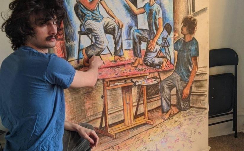 Художник нарисовал портрет себя, рисующего свой автопортрет, рисующего свой автопортрет…